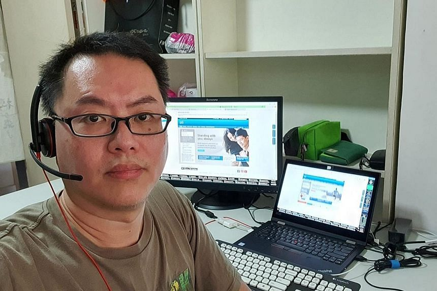 DBS Bank's customer service officer Jasmine Lim Yan Yin, 33, is among the call centre staff who can now work from home - a result of the bank spending close to $10 million over five years to develop its remote working infrastructure. That investment