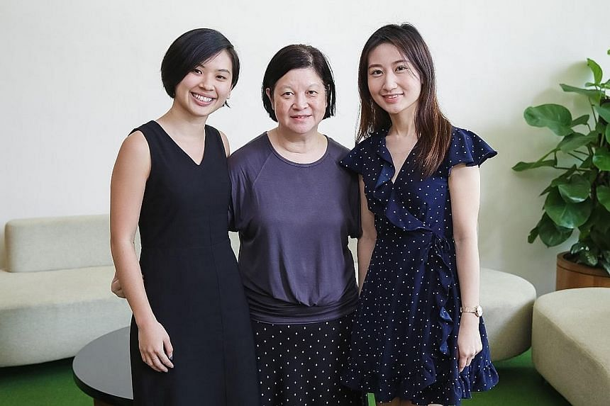 (From left) Principal tax officer Seah Huaikuan, service quality team member Margaret Soh and data management officer Low Wan Qing were among about 20 tax professionals last year to get the IRAShines award, which recognises tax professionals for outs