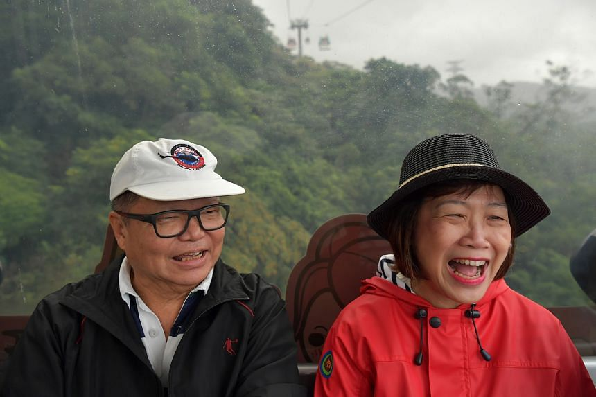Steven and Lai Quen on a study trip to Taiwan last November, along with five others with dementia and their caregivers. The trip was organised by the Alzheimer's Disease Association and the Lien Foundation.