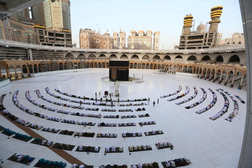 """In Saudi Arabia, Eid prayers will be held at the two holy mosques in the cities of Mecca and Medina """"without worshippers""""."""