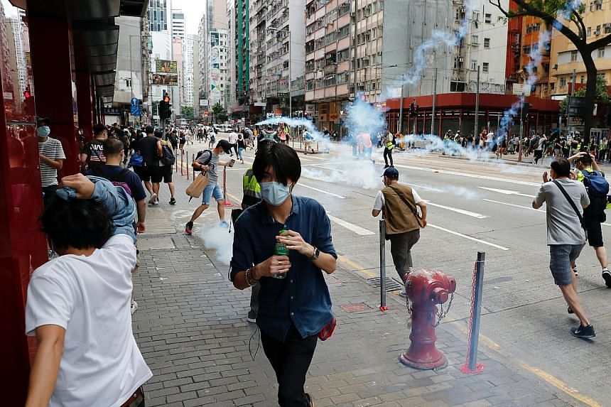 Hong Kong police endorse China's security law amid protests