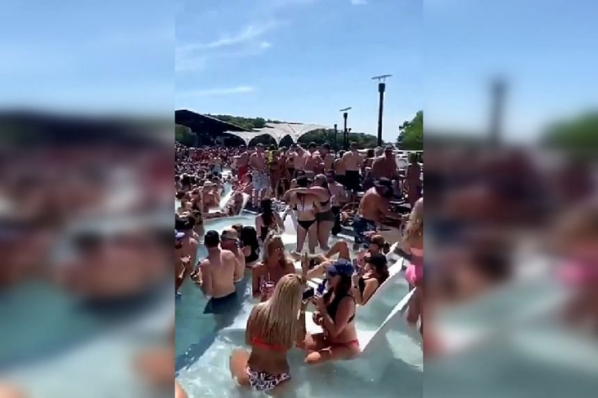 A screenshot from a video of the party circulating online.