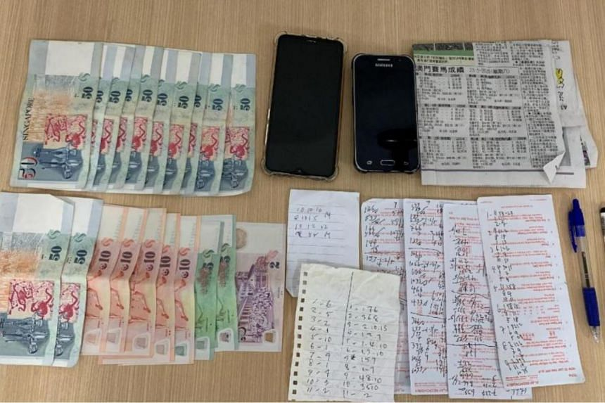 Cash amounting to more than $800 and some gambling paraphernalia were seized during the operation.
