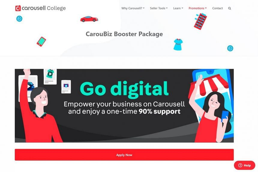 Merchants can sign up for the CarouBiz Booster Package from now to Dec 31, 2020.