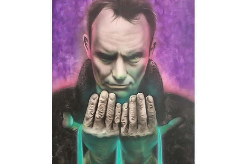 Before he died, a former New York police officer asked for his painting (above) of English musician and actor Sting to be given to him.