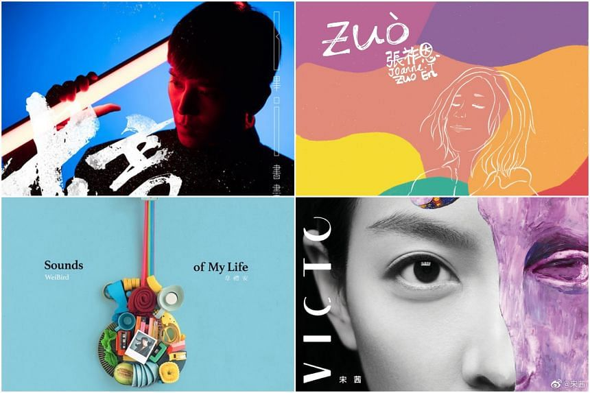 (Clockwise from top left) The covers of Shape, zuo, Victoria and Sounds Of My Life.