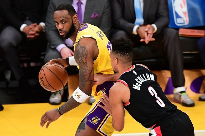 A January 2020 photo shows LeBron James of the Los Angeles Lakers in action.