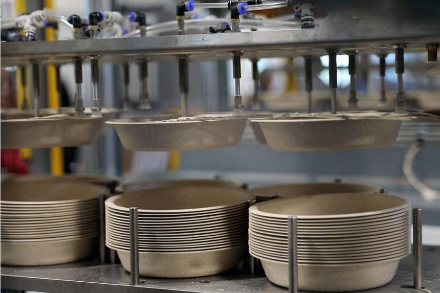 Footprint's fiber-based bowls. The company produces fibre-based alternatives to single-use plastics.
