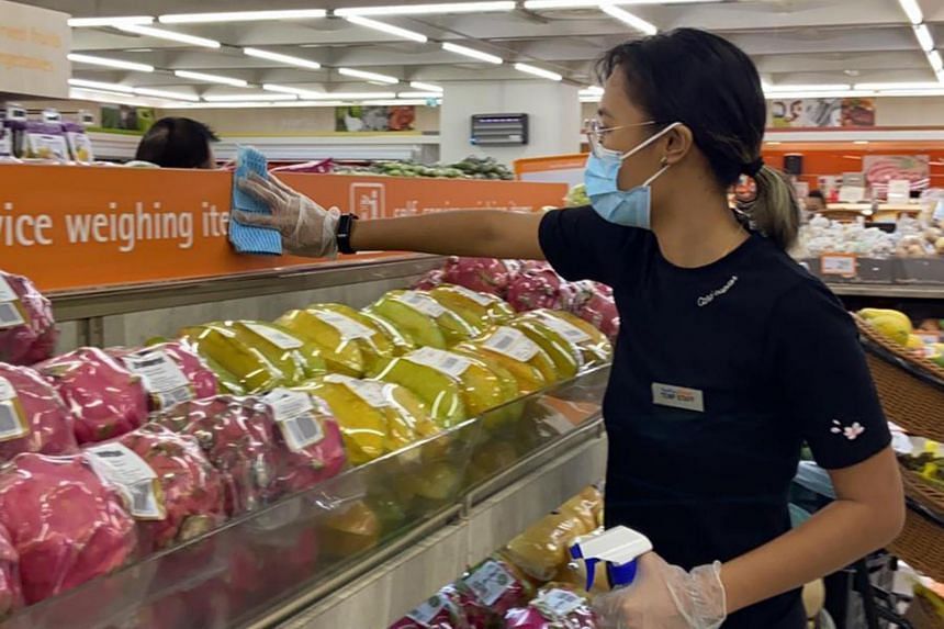 Miss Dian Afiqah Salaihuddin managed to get a part-time job as a cashier at FairPrice Finest in April.