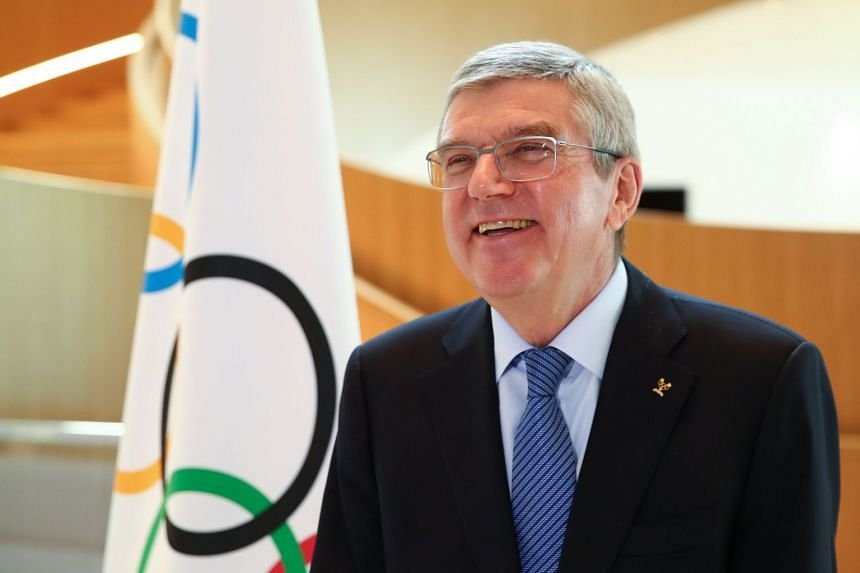 Thomas Bach gives an interview after the postponement of the 2020 Tokyo Olympic Games.