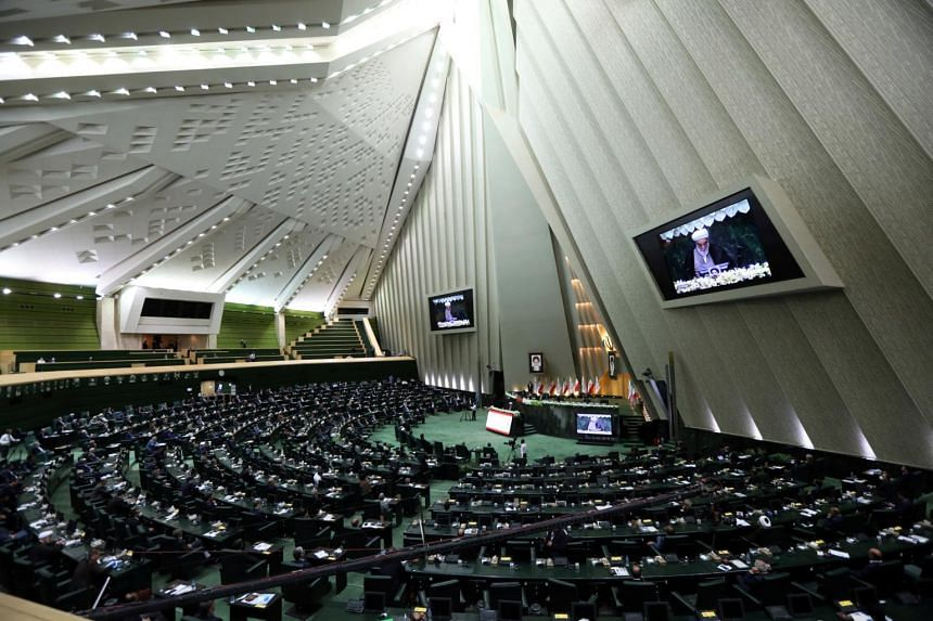 A view of the Iranian parliament in Teheran, Iran, on May 27, 2020.