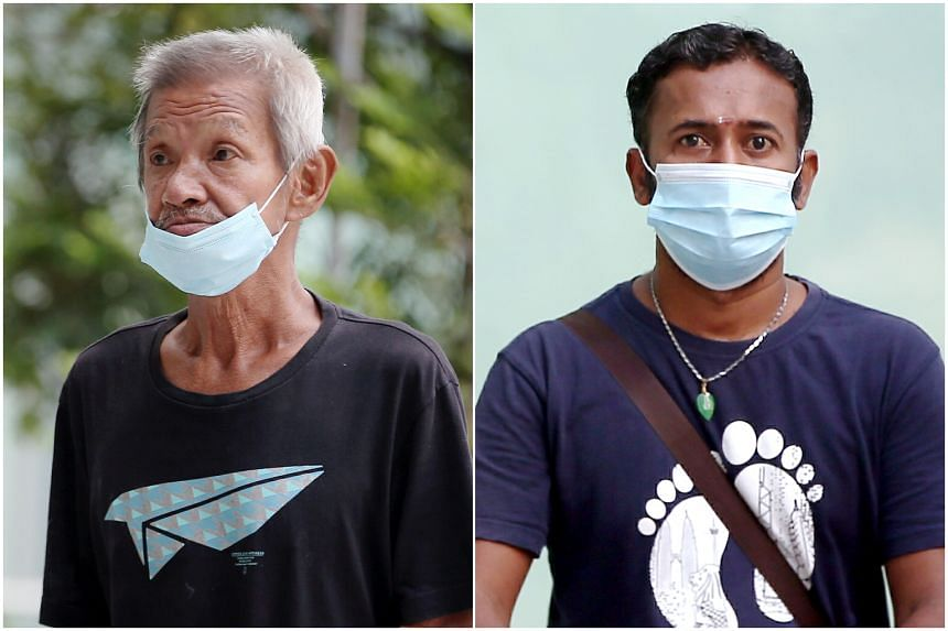Both Ong King Hwa (left) and Chantroo Krishnan said they intend to plead guilty to their charges and they will be back in court on June 10, 2020.