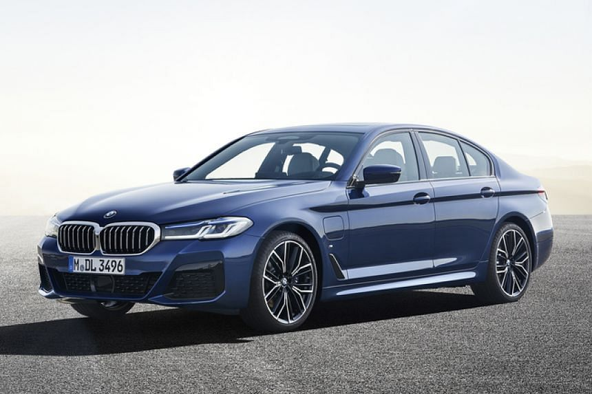 The BMW 530e, a plug-in hybrid with a 2-litre engine paired with a an electric motor and eight-speed autobox.