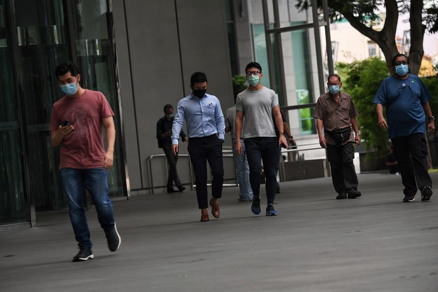 Workers in the central business district may not be able to go out to lunches in groups as they used to.
