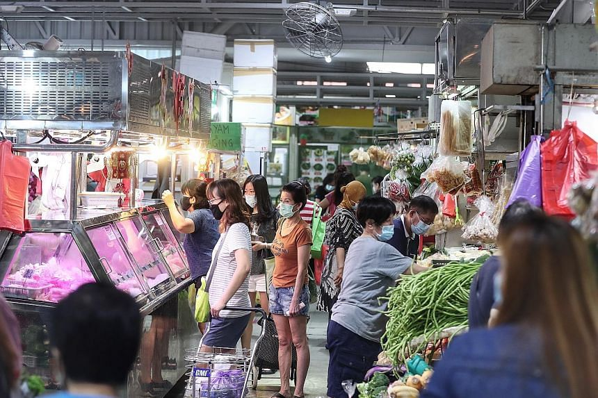The Jurong West Market and Food Centre (above) is among places listed as having been visited by Covid-19 patients while they were still infectious. Yesterday, the FairPrice supermarket in Taman Jurong Shopping Centre was added to the list of public p