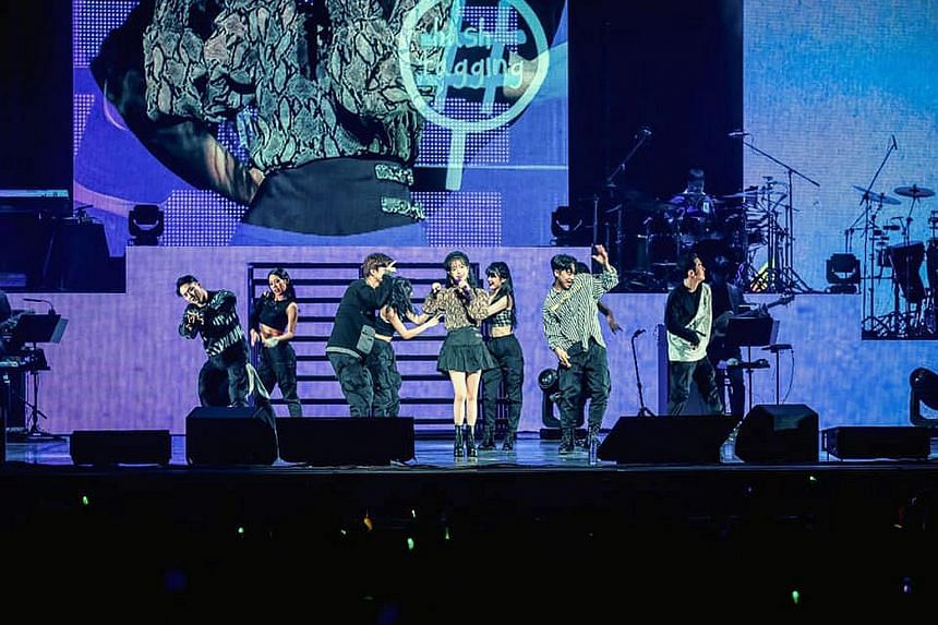 South Korean pop star IU in Singapore last year. The entertainment industry is among those that will require a new business model as the pandemic refashions the economy, said Trade and Industry Minister Chan Chun Sing.