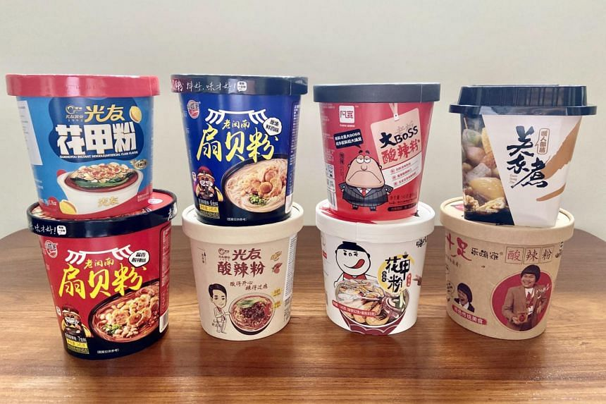 Each cup is printed with cute cartoons and catch-phrases.
