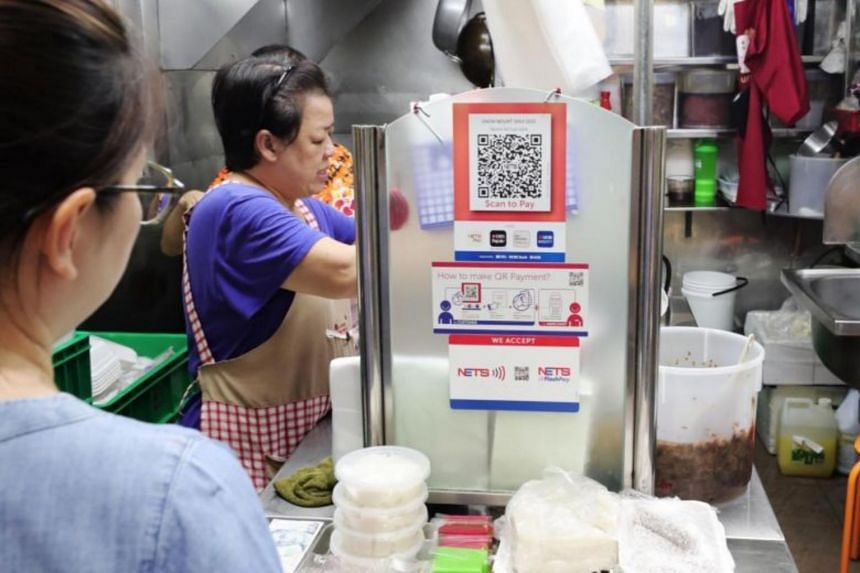 A Chwee Kueh stall with the QR code at Blk 448 Clementi Avenue 3.