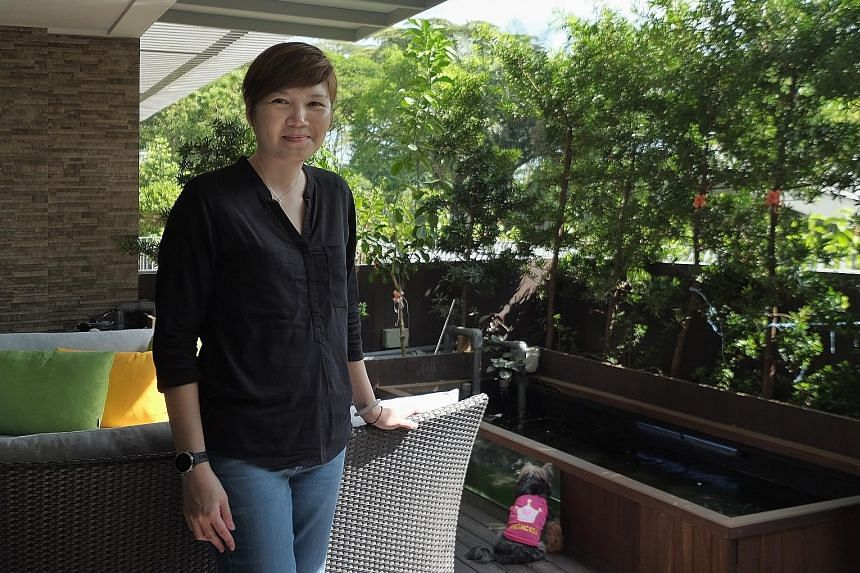 Ms Tan says her unit with two gardens – front and back of the unit – exudes a landed property feel but without the hefty price and financial commitment. Her two Yorkshire terriers also love dashing about in the gardens all day.