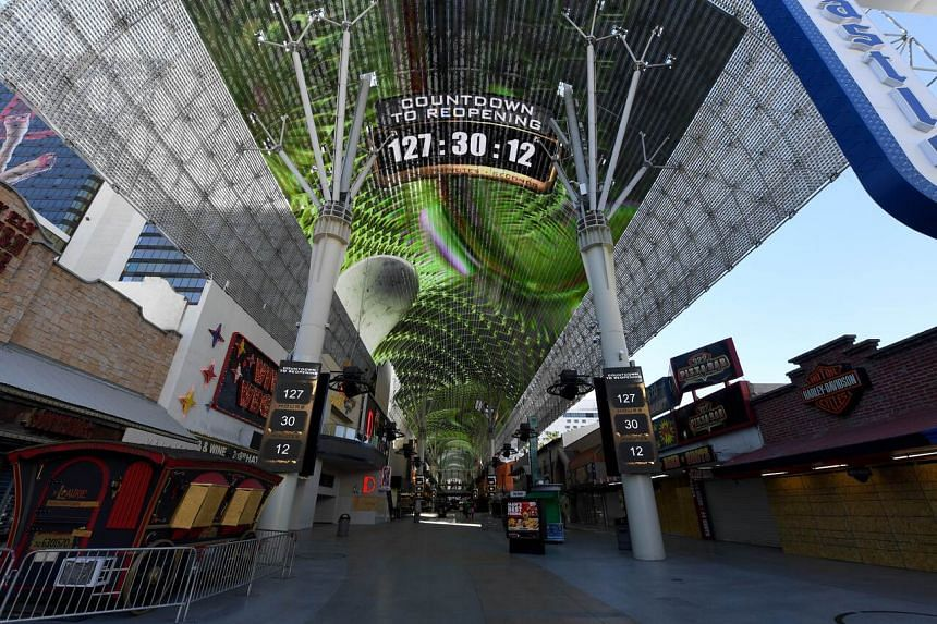 A countdown leading up to the June 4 reopening of hotel-casinos in Las Vegas, on May 29, 2020.