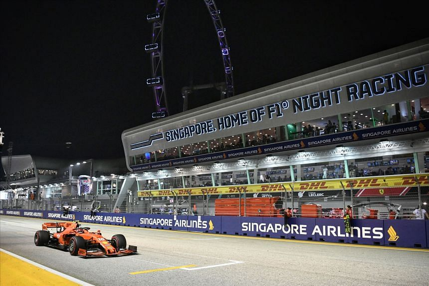 The Singapore Grand Prix at the Marina Bay Street Circuit last year. The Covid-19 outbreak has made it uncertain whether the race will take place this year.