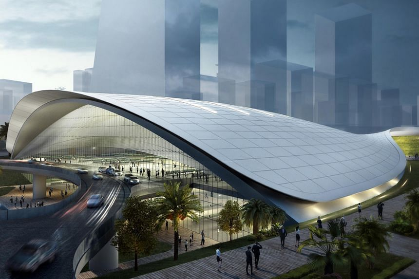 The rail line would cut travelling time between Malaysia's capital and Singapore to 90 minutes.