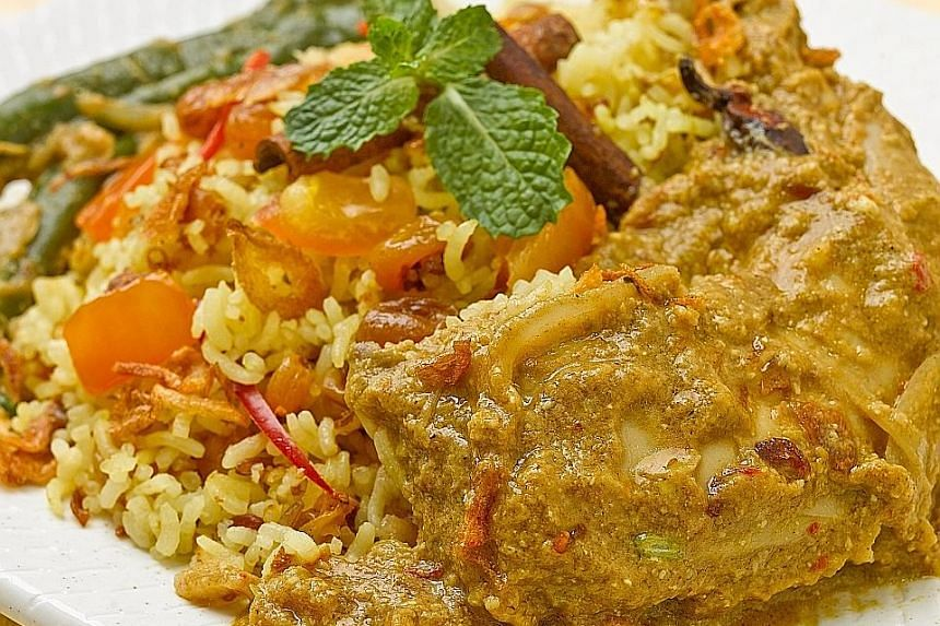 People with hypertension should reduce their intake of salt, by consuming food such as low-salt chicken briyani (above).