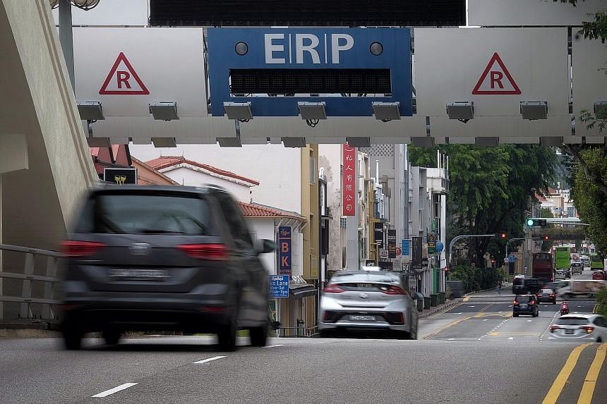 ERP gantries have been switched off since April 6. Rate reviews are usually done every quarter but are now held more frequently - every four weeks - to be more responsive to changes in traffic conditions amid the pandemic.