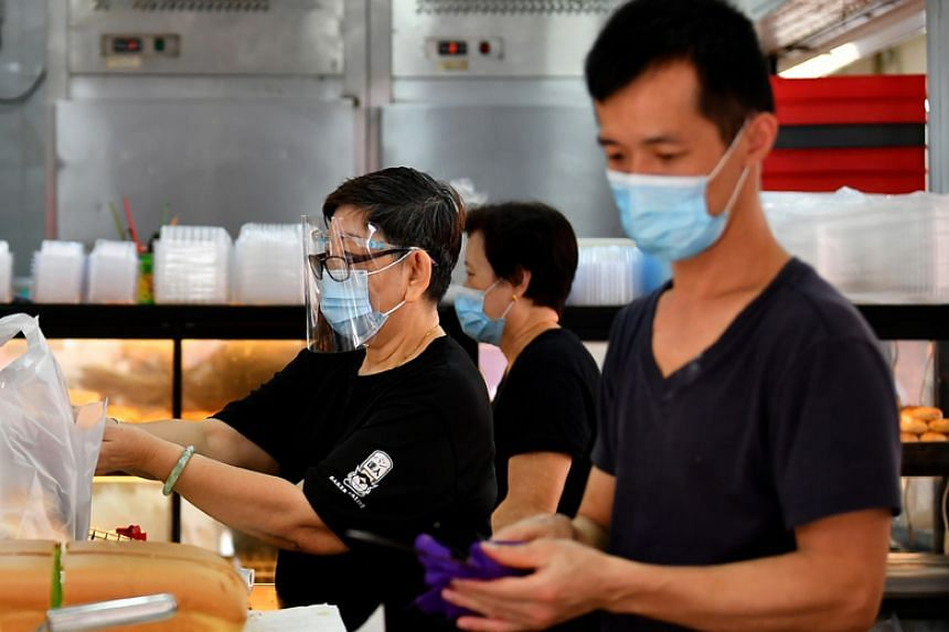 Health Minister Gan Kim Yong noted that face shields will continue to be play a complementary role, by shielding the eyes, for instance.