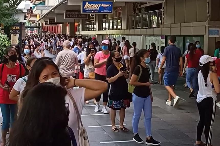 Photos of queues outside the mall on social media led to concerns about safe distancing rules being breached.