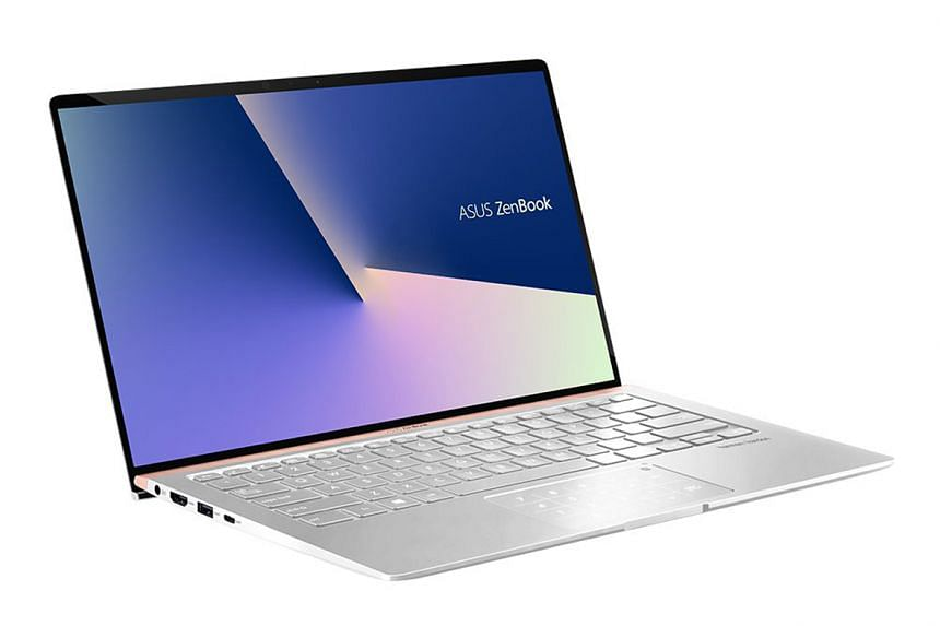 The ZenBook 14 is a solidly built 14-inch thin-and-light notebook.
