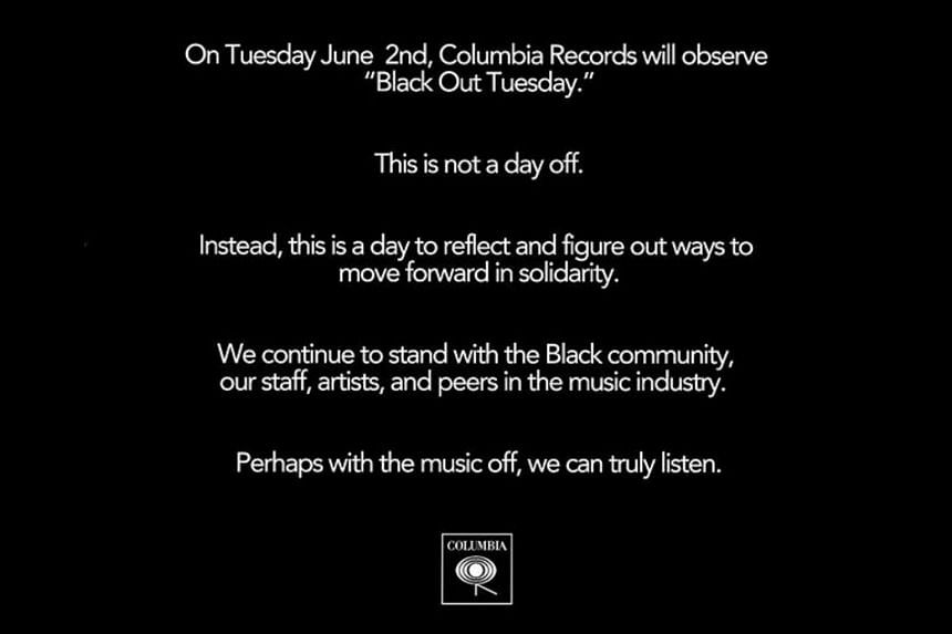 Music industry calls for 'blackout' over death — George Floyd