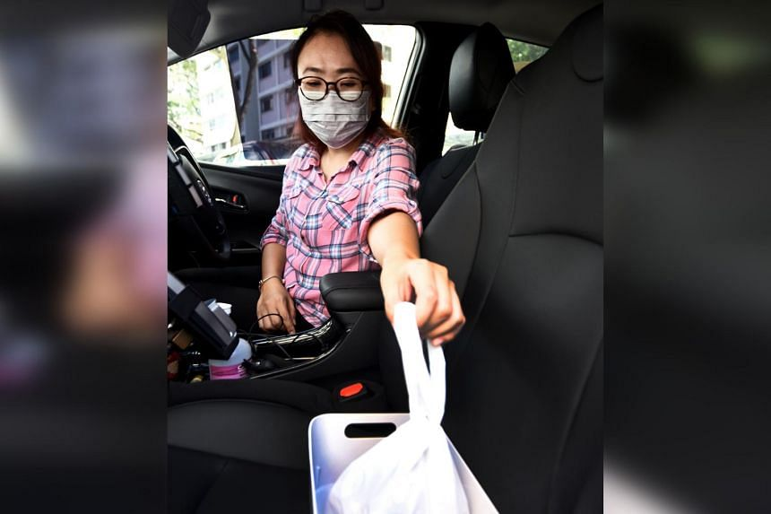 Taxi driver Jade Cho, 46, has done multiple food deliveries.