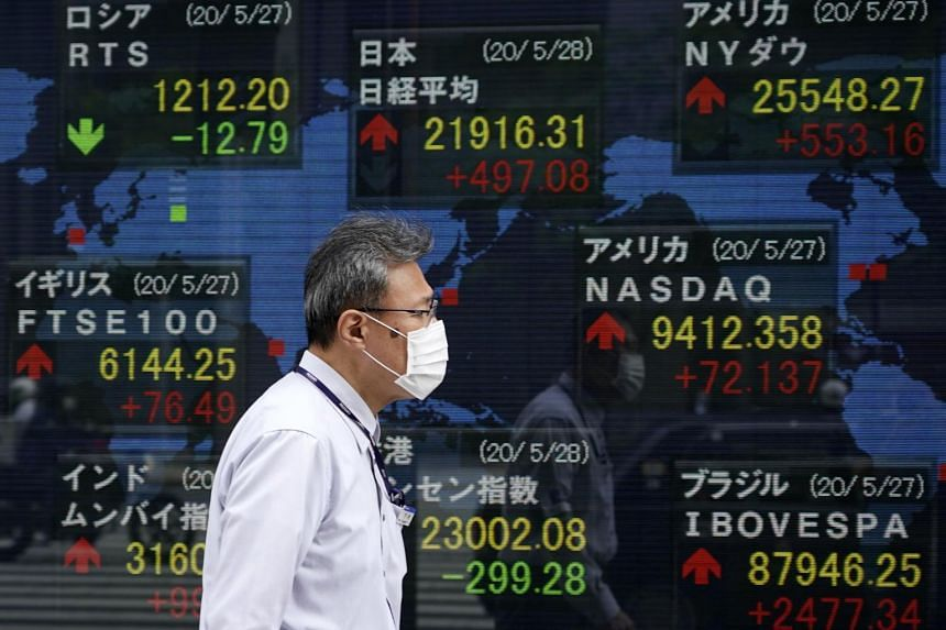 Japan's Nikkei rose 1 per cent to its highest since late February.
