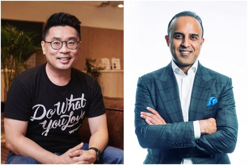 Turochas Fuad (left) has left WeWork and Samit Chopra is its new managing director.