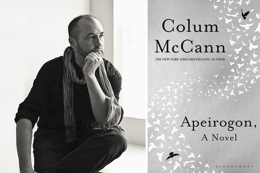Irish writer Colum McCann (left) bases his seventh novel Apeirogon on the real-life friendship between two fathers, an Israeli and a Palestinian, who have both lost their daughters to violence.