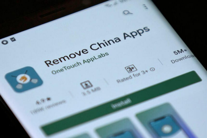 Remove China Apps scans a user's phone for apps such as ByteDance's TikTok and Alibaba's UC Browser.