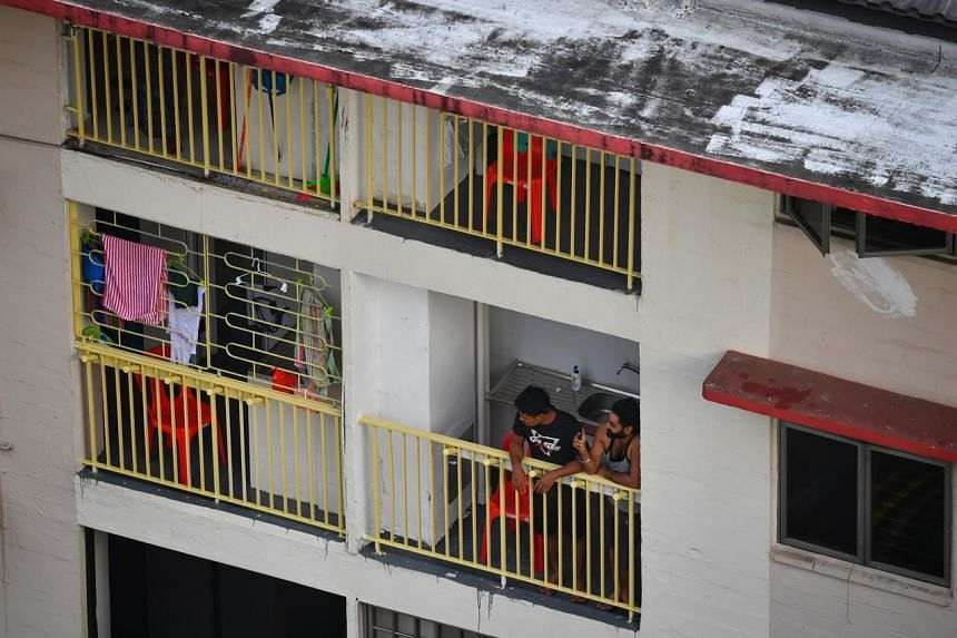 Twenty-one HDB blocks in Redhill Close were refurbished to house healthy foreign workers employed in essential services.