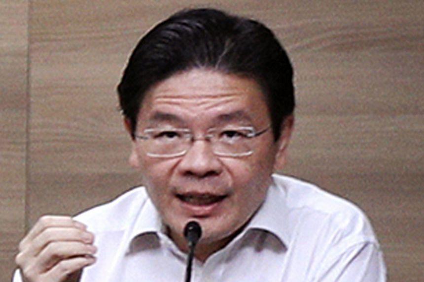 National Development Minister Lawrence Wong.