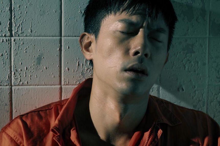Desmond Tan as his serial killer character Derek in Code Of Law: Final.