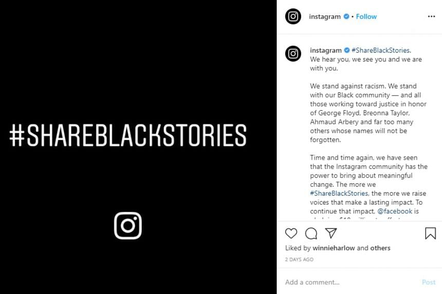 Some 28.5 million Instagram users have shared images with black backgrounds.