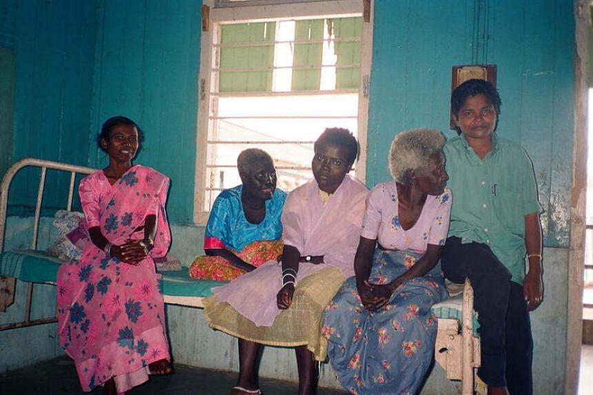 Mrs Licho (left), the last speaker of the Sare language.