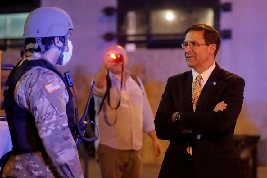 Defense Secretary Mark Esper doesn't support invoking Insurrection Act