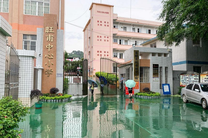 All the victims, including teaching staff at Wangfu Central Primary School, were sent to hospital.