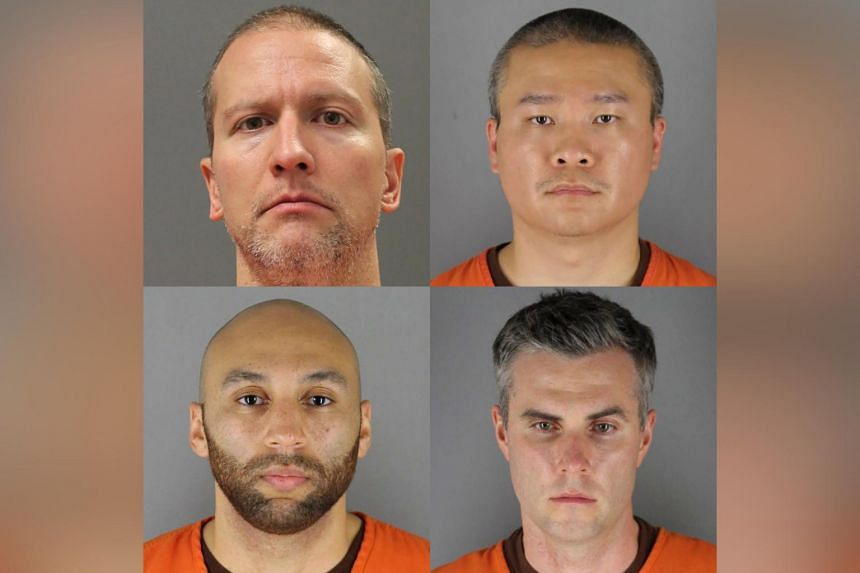 Former Minnesota police officers (clockwise from top left) Derek Chauvin, Tou Thao, Thomas Lane and J. Alexander Kueng.