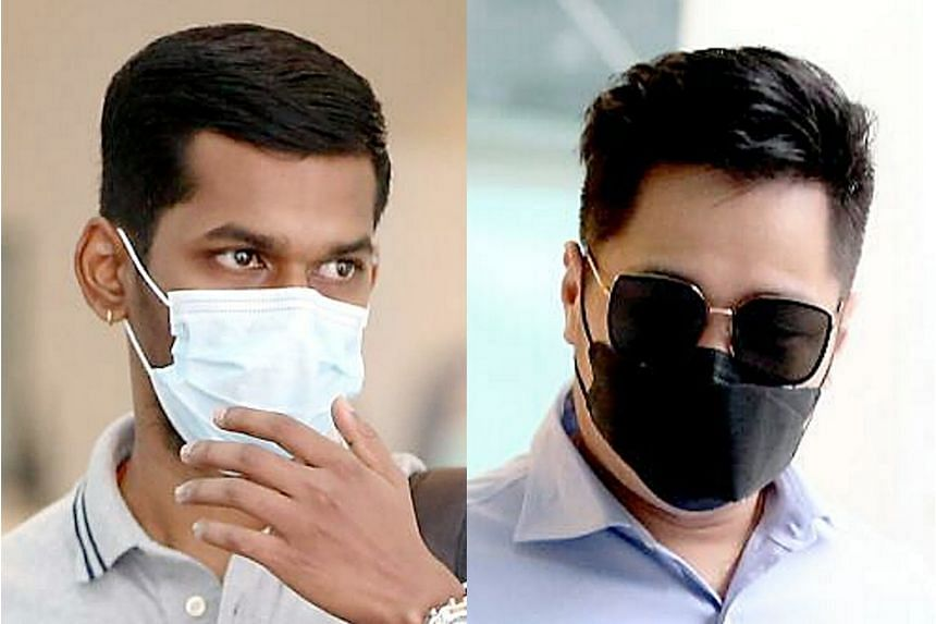 Arvinish N. Ramakrishnan, 23, (left) was fined $4,000 and given a driving ban. Chng Tianxi, 37, got four weeks' jail over stay-home notice breaches.