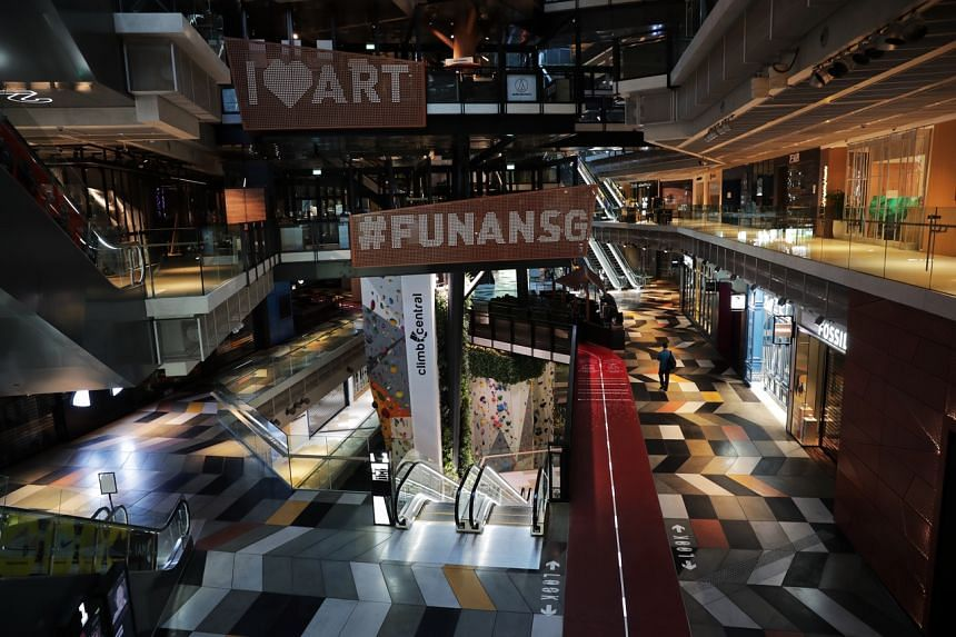 An empty Funan Mall on June 3, 2020.