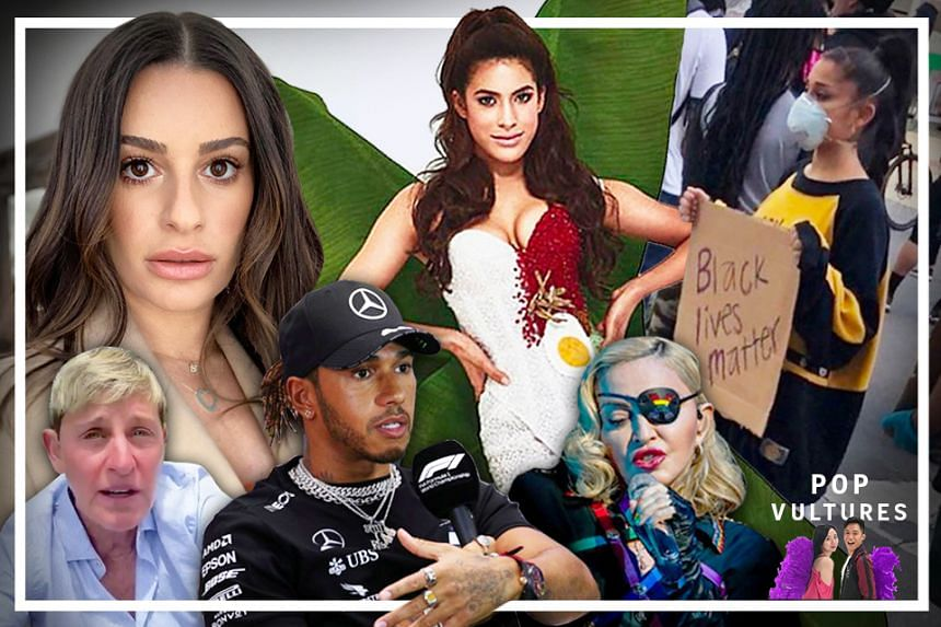 Speaking up about George Floyd's death and #BlackLivesMatter has backfired for celebrities like Glee actress Lea Michele, talk show host Ellen Degeneres, popstar Madonna and Malaysian beauty queen Samantha Katie James. Others like singer Ariana Grand
