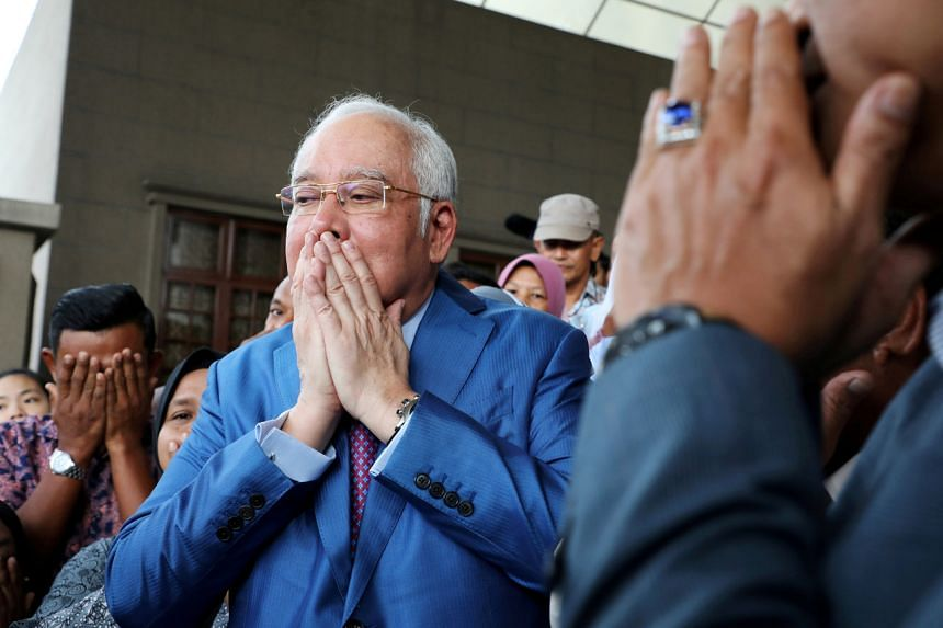 Najib Razak faces a total of 42 counts for corruption, money-laundering and abuse of power.