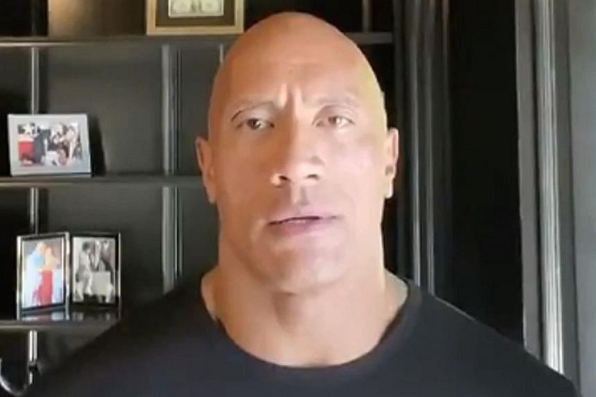 The Rock takes a jab at Trump in video